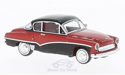 Wartburg 311 1/87 Brekina Coupe red/black diecast
