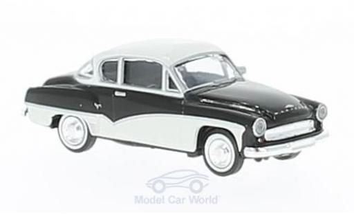 Wartburg 311 1/87 Brekina Coupe noire/blanche miniature