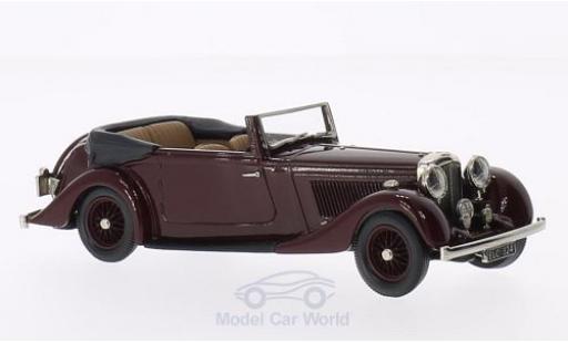 Bentley 4.5 1/43 Brooklin 4 1/4 Litre DHC Park Ward rouge 1936 miniature