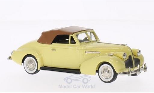 Buick Century 1/43 Brooklin Convertible Coupe M66-C jaune/marron 1939 miniature