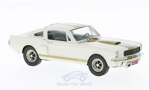 Ford Mustang 1/43 Brooklin blanco/gold 1966 ohne Vitrine miniatura
