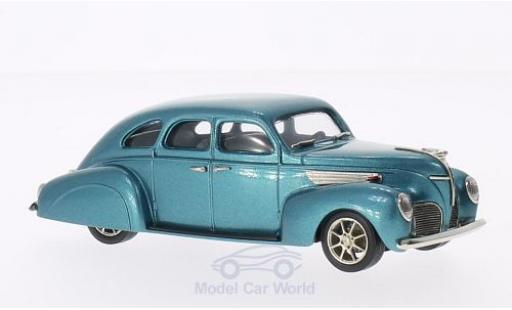 Lincoln Zephyr 1/43 Brooklin 4-door metallic-dunkeltürkis 1938 diecast