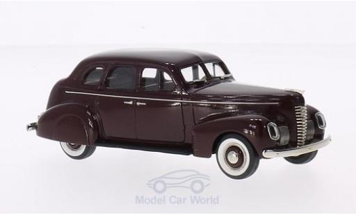 Nash Ambassador 1/43 Brooklin Eight 4-Door Touring Sedan rouge 1939 miniature