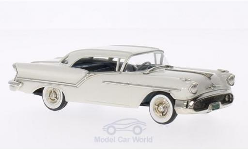 Oldsmobile Super 88 1/43 Brooklin 2-door Holiday blanche 1957 miniature