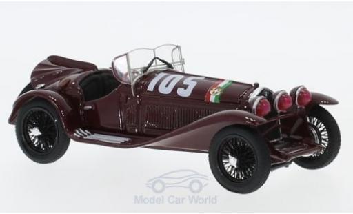 Alfa Romeo 2300 1/43 Brumm RHD No.105 Mille Miglia 1932 T.Nuvolari/G-B.Guidotti miniatura