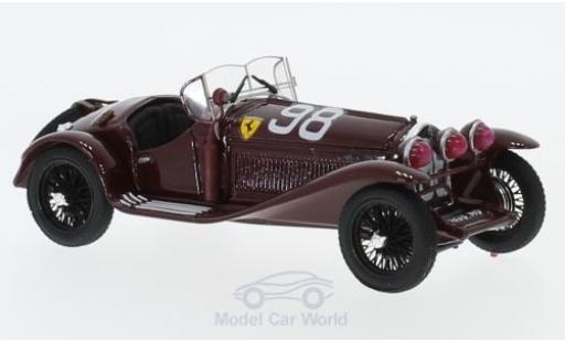 Alfa Romeo 2300 1/43 Brumm RHD No.98 Scuderia Ferrari Mille Miglia 1933 T.Nuvolari/D.Compagnoni miniatura