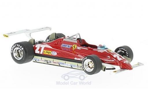 Ferrari 126 1/43 Brumm C2 Turbo No.27 Formel 1 GP Long Beach 1982 G.Villeneuve