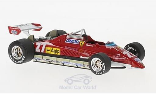 Ferrari 126 1/43 Brumm C2 Turbo No.27 Formel 1 GP San Marino 1982 G.Villeneuve miniature