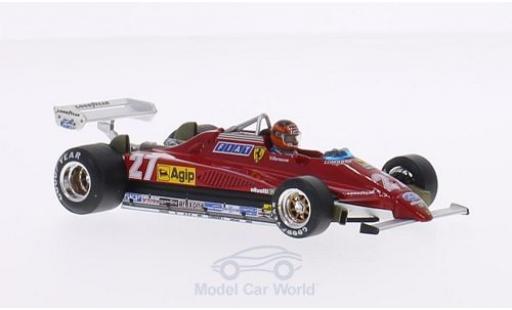 Ferrari 126 1/43 Brumm C2 Turbo No.27 Scuderia Formel 1 GP Belgien 1982 mit Fahrerfigur in Sonderverpackung G.Villeneuve diecast