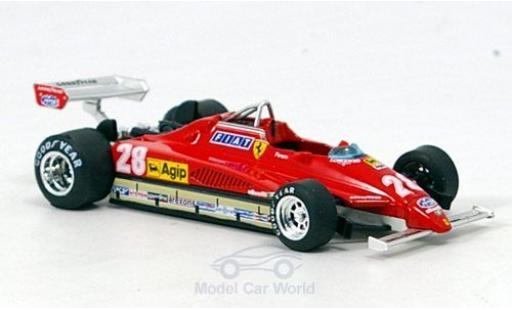 Ferrari 126 1982 1/43 Brumm C2 Turbo No.28 Formel 1 GP San Marino D.Pironi miniature