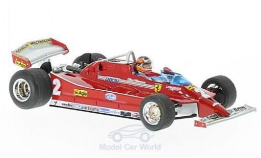 Ferrari 126 1/43 Brumm C turbo No.2 Formel 1 GP Italien 1980 mit Fahrerfigur G.Villeneuve miniature