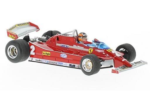 Ferrari 126 1/43 Brumm C turbo No.2 Scuderia Formel 1 GP Italien 1980 avec figurine de conducteur G.Villeneuve miniature