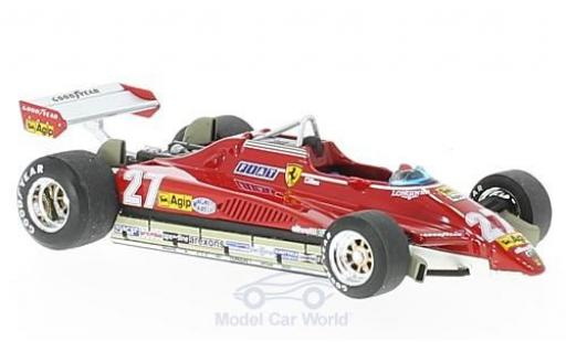 Ferrari 126 1982 1/43 Brumm C2 turbo No.27 Formel 1 GP Brasilien G.Villeneuve diecast model cars