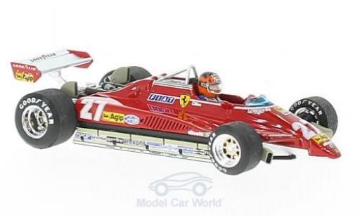 Ferrari 126 1982 1/43 Brumm C2 turbo No.27 Formel 1 GP Brasilien mit Fahrerfigur G.Villeneuve miniature
