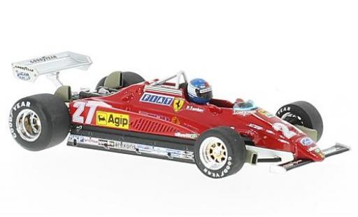 Ferrari 126 1/43 Brumm C2 turbo No.27 Formel 1 GP Italien 1982 avec figurine de conducteur P.Tambay miniature
