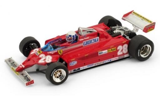 Ferrari 126 1/43 Brumm CK Turbo No.28 Scuderia Formel 1 GP Monaco 1981 y compris les figurine de conducteur D.Pironi miniature