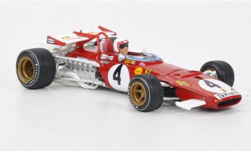 Ferrari 312 1/43 Brumm B No.4 GP Italien 1970 avec figurine de conducteur C.Regazzoni miniature