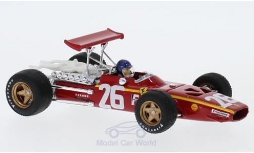 Ferrari 312 P 1/43 Brumm F1 No.26 Formel 1 GP Frankreich 1968 mit Fahrer J.Ickx miniatura