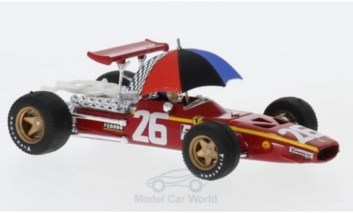Ferrari 312 P 1/43 Brumm F1 No.26 Formel 1 GP Frankreich 1968 mit Fahrer und Regenschirm J.Ickx miniature