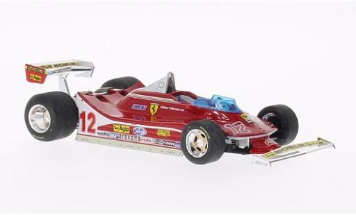 Ferrari 312 1/43 Brumm T4 No.12 Scuderia Formel 1 GP Frankreich 1979 lenkbare Vorderräder G.Villeneuve miniature