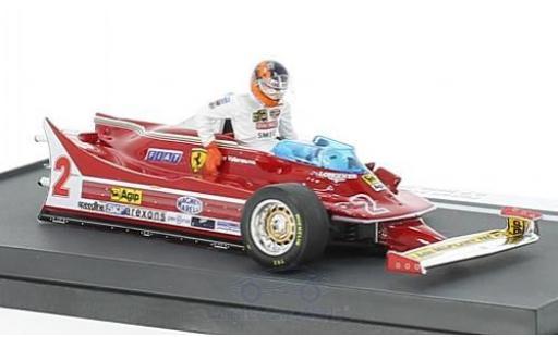 Ferrari 312 P 1/43 Brumm T5 No.2 Formel 1 GP Italien 1980 mit Fahrerfigur G.Villeneuve miniatura