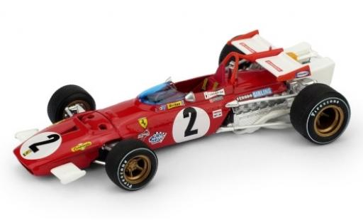 Ferrari 312 1/43 Brumm B No.2 Scuderia Formel 1 GP Italien 1970 J.Ickx