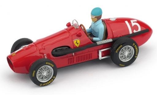 Ferrari 500 1/43 Brumm F2 No.15 Scuderia GP Großbritannien 1952 avec figurine de conducteur A.Ascari