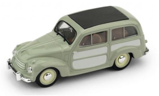 Fiat 500 1/43 Brumm C Belvedere verte/grise 1951 miniature