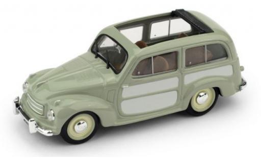 Fiat 500 1/43 Brumm C Belvedere verte/grise 1951 toit rabattable ouvert miniature