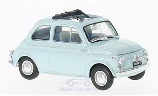 Fiat 500 1/43 Brumm D bleue 1960 miniature