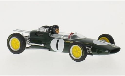 Lotus 25 1/43 Brumm No.1 Team Formel 1 GP Belgien 1963 avec figurine de conducteur J.Clark modellautos