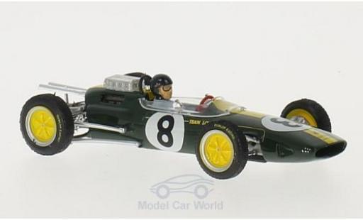 Lotus 25 1/43 Brumm No.8 Formel 1 GP Italien 1963 mit Fahrerfigur J.Clark modellautos
