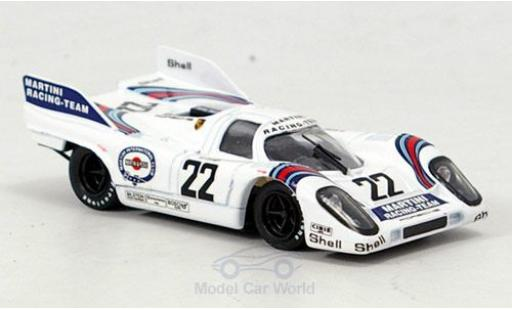 Porsche 917 1971 1/43 Brumm No.22 Scuderia Martini Racing Martini 24h Le Mans H.Marko/G.van Lennep miniature