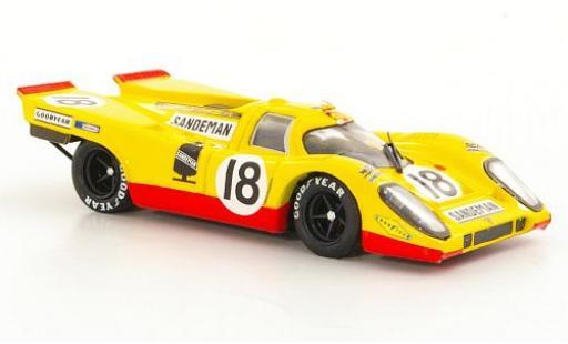 Porsche 917 1970 1/43 Brumm K RHD No.18 David Piper Racing Sandeman 24h Le Mans D.Piper/G.van Lennep diecast model cars