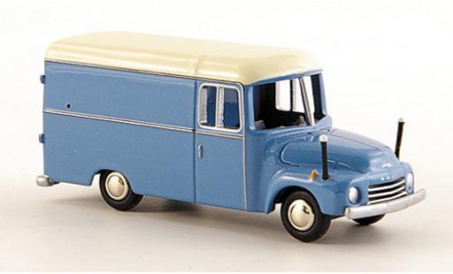 Opel Blitz 1/87 Bub 1.75t Kasten bleue/blanche miniature