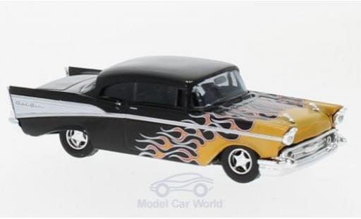 Chevrolet Bel Air 1957 1/87 Busch black/Dekor diecast model cars