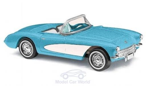 Chevrolet Corvette 1/87 Busch C1 Convertible blue/white 1956
