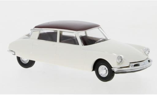 Citroen DS 1/87 Busch 19 blanche/rouge miniature