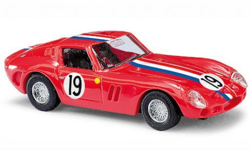 Ferrari 250 1/87 Busch GTO rouge/Dekor No.19 miniature