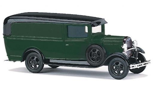 Ford Model A 1/87 Busch A verte/noire miniature