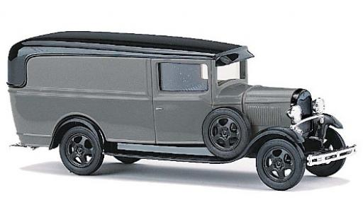 Ford Model A 1/87 Busch A grise/noire miniature