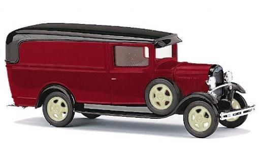 Ford Model A 1/87 Busch A rouge/noire miniature