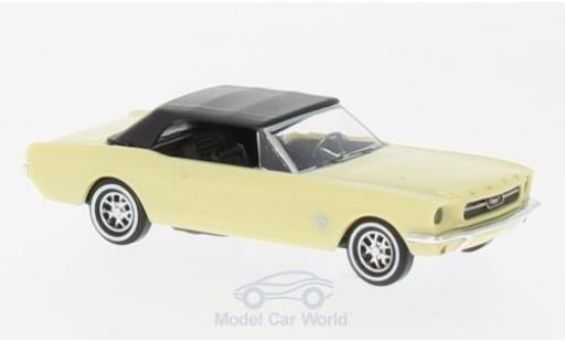 Ford Mustang 1/87 Busch Cabrio yellow 1964 mit Softtop diecast model cars