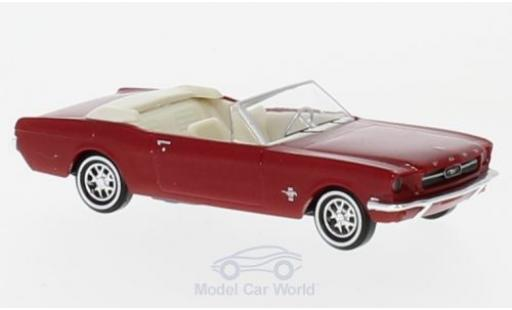 Ford Mustang 1/87 Busch Cabrio metallise rouge 1964 miniature
