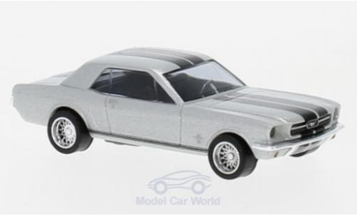 Ford Mustang 1/87 Busch Coupe grise/noire 1964 miniature