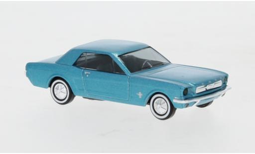 Ford Mustang 1/87 Busch metallise verte miniature