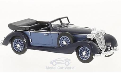 Horch 853 1/87 Busch Cabriolet bleue/bleue miniature