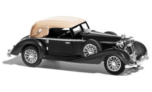 Horch 853 1/87 Busch Cabriolet noire Scheunenfund miniature