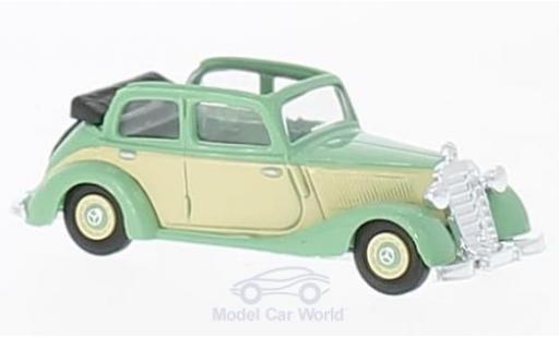 Mercedes 170 1/87 Busch V Cabrio hellgrün/beige 1936 diecast