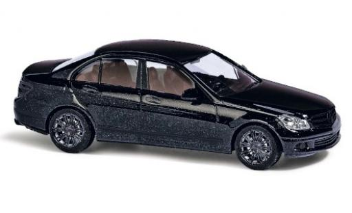 Mercedes Classe C 1/87 Busch (W204) metallise negro Black Edition coche miniatura